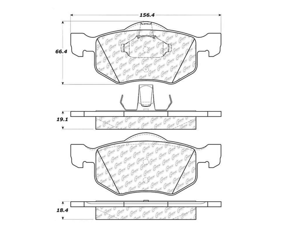 StopTech 105.0843 PosiQuiet Ceramic Pads Front