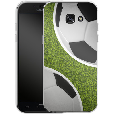 Samsung Galaxy A5 (2017) Silikon Handyhuelle - Two Footballs von caseable Designs