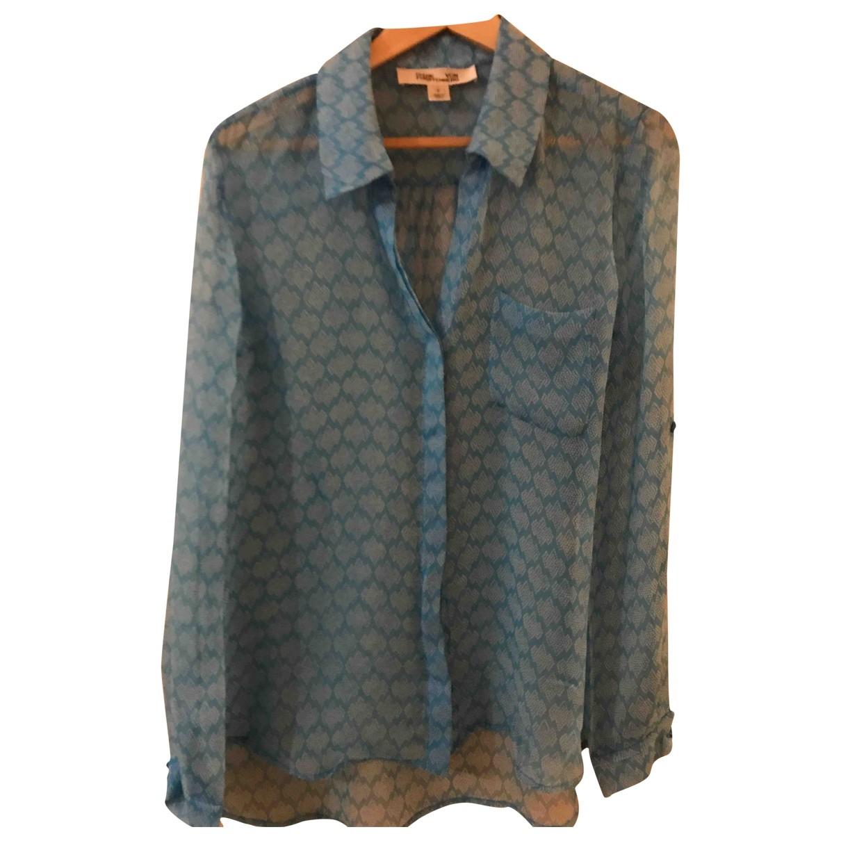 Diane Von Furstenberg \N Blue Silk  top for Women 38 FR