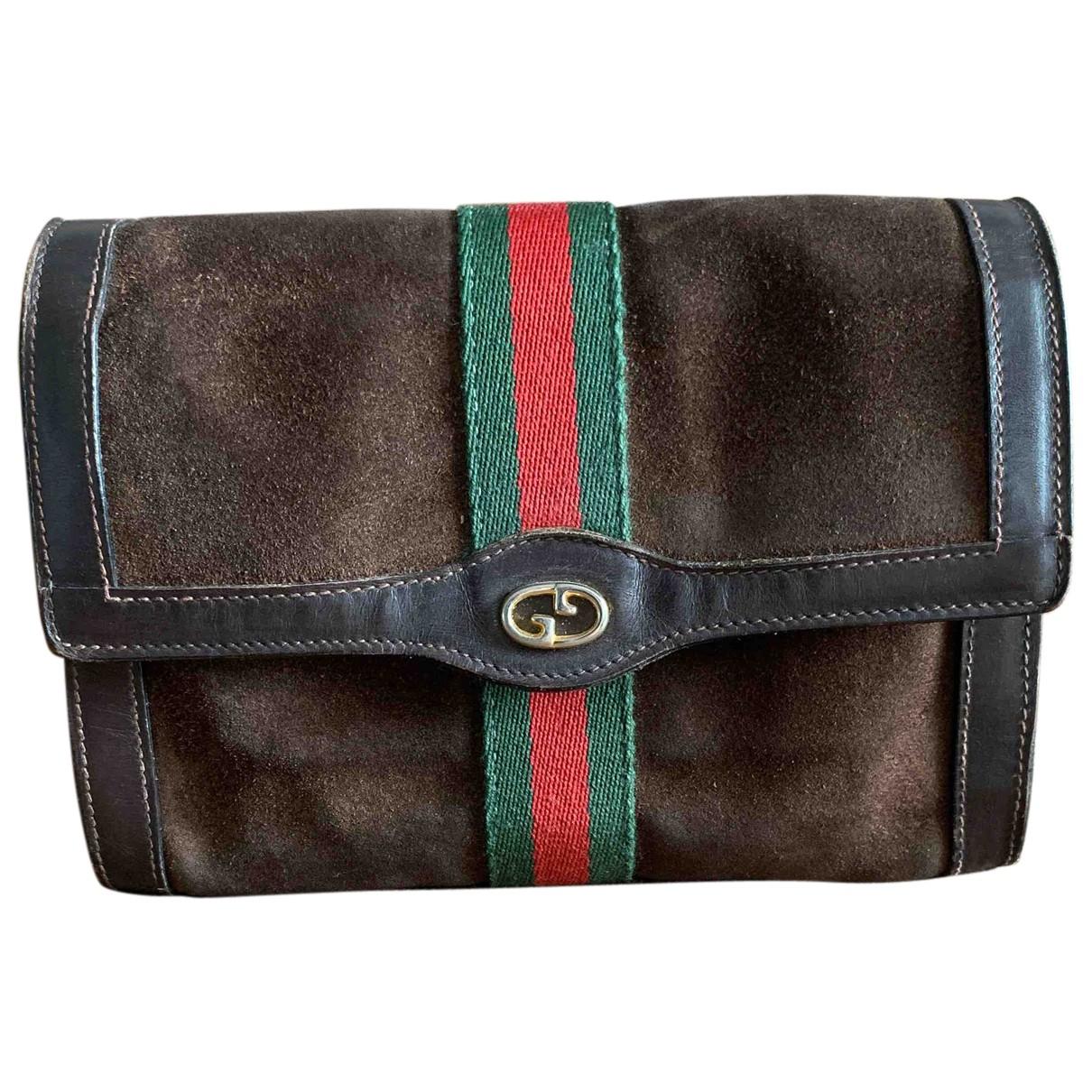 Bolsos clutch en Ante Marron Gucci