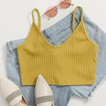 Strick Crop Cami Top