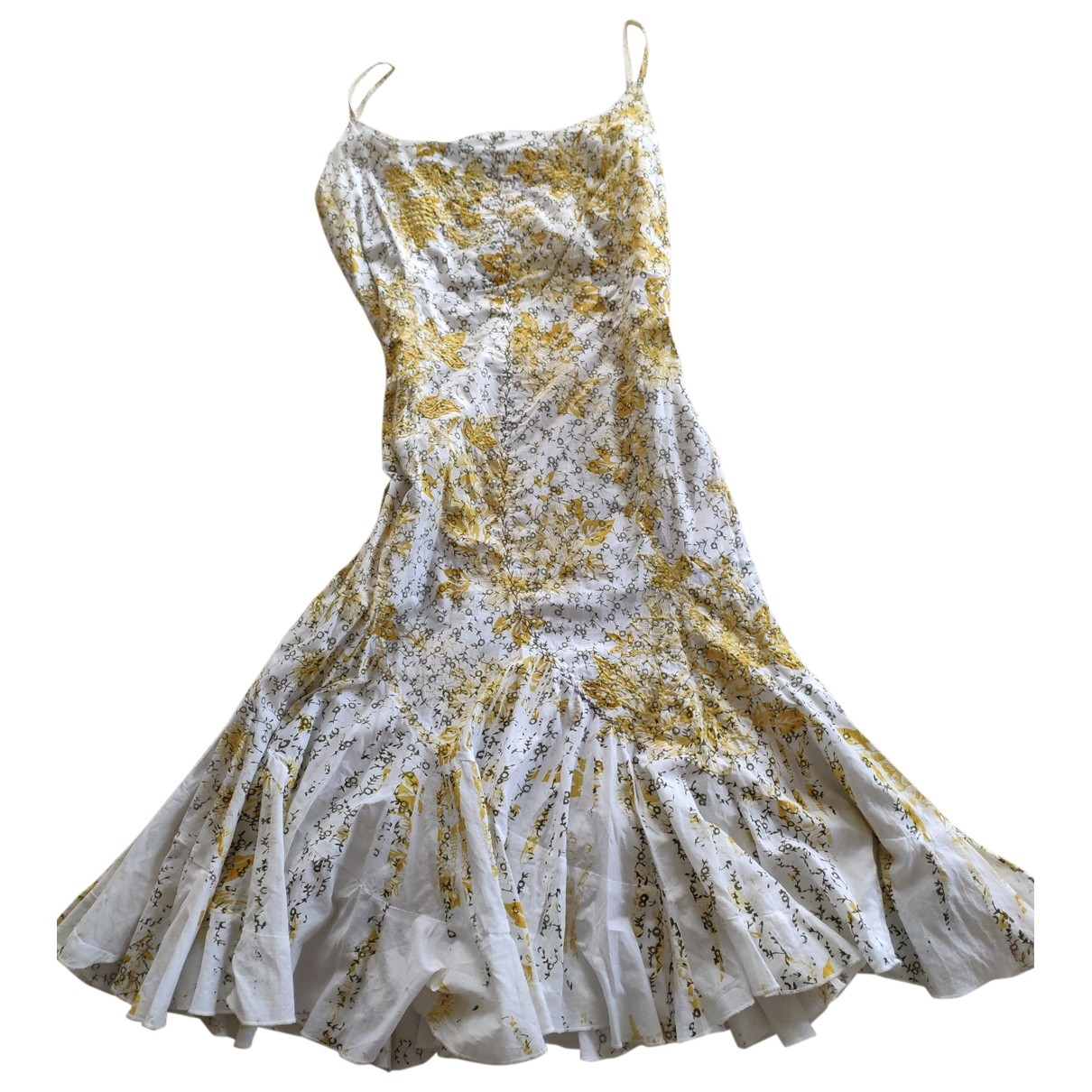 Adolfo Dominguez \N Kleid in  Weiss Baumwolle