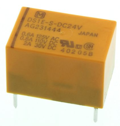 Panasonic , 24V dc Coil Non-Latching Relay SPDT, 3A Switching Current PCB Mount
