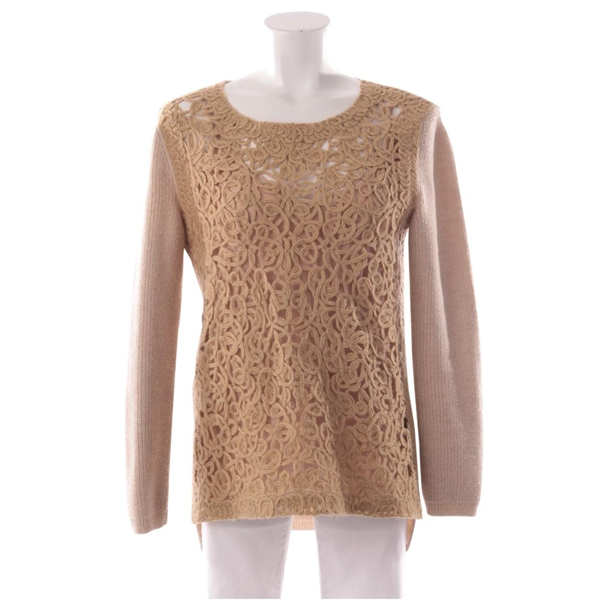 Agnona - Pull   pour femme en laine - beige