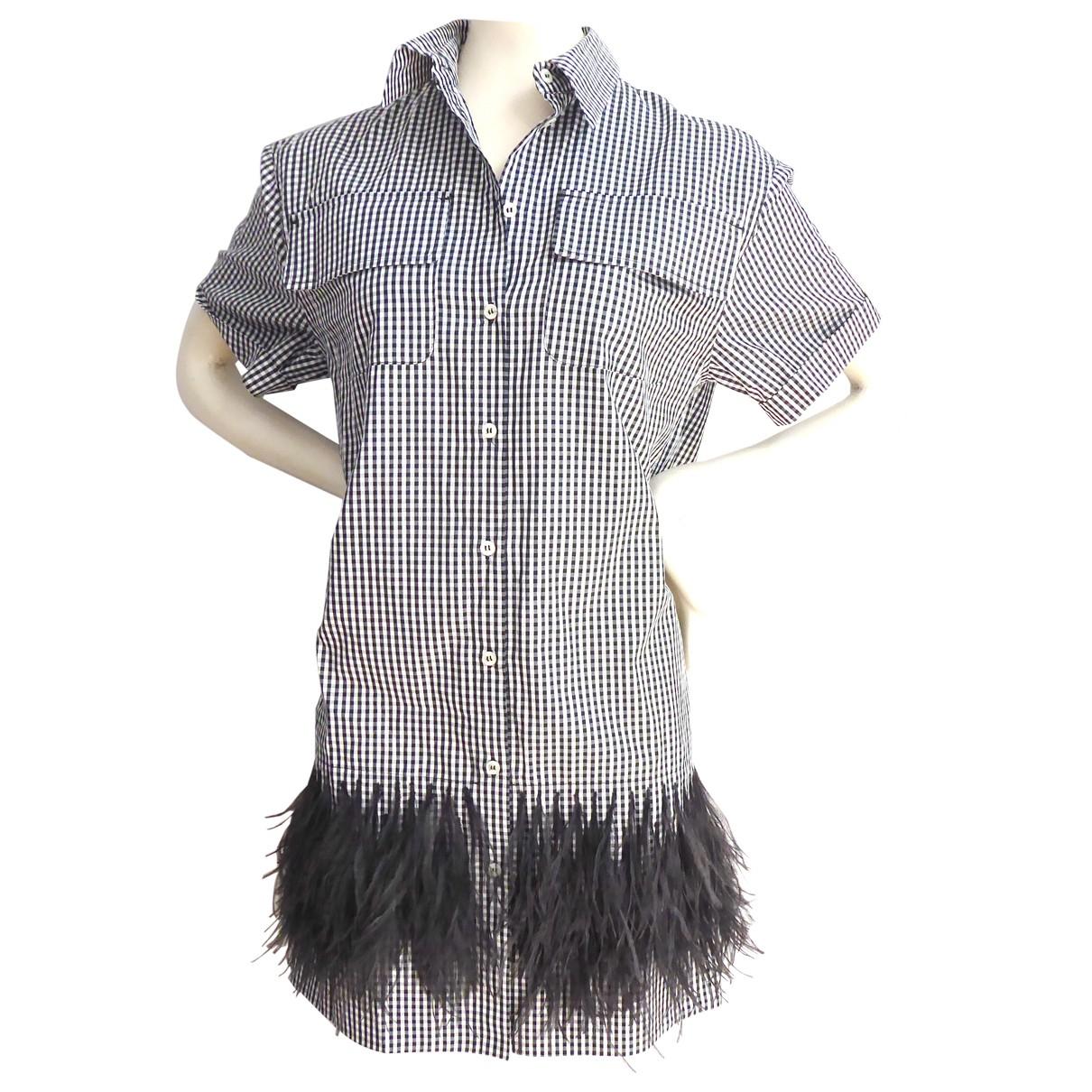N°21 \N Navy Cotton dress for Women 38 IT