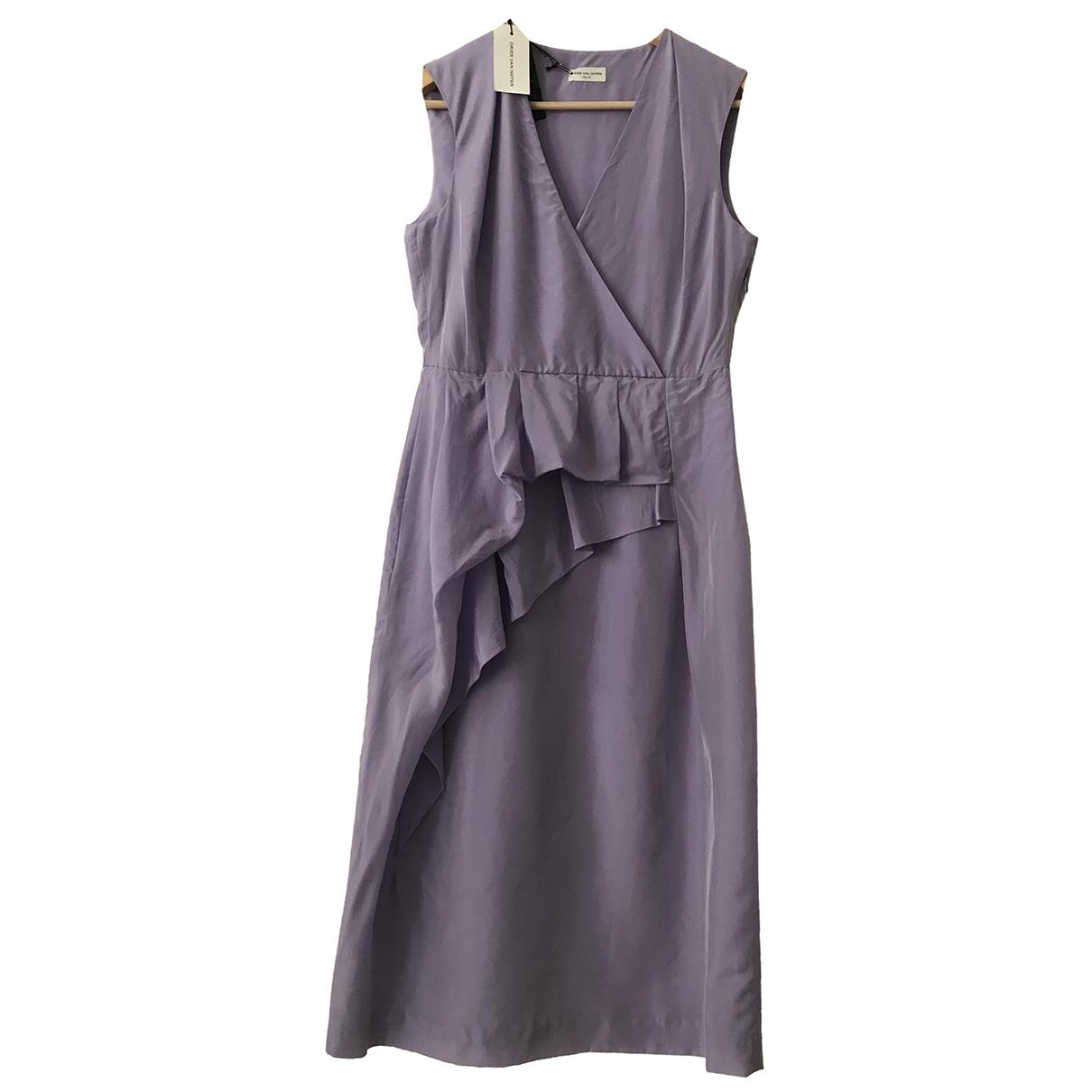 Dries Van Noten \N Kleid in  Lila Baumwolle