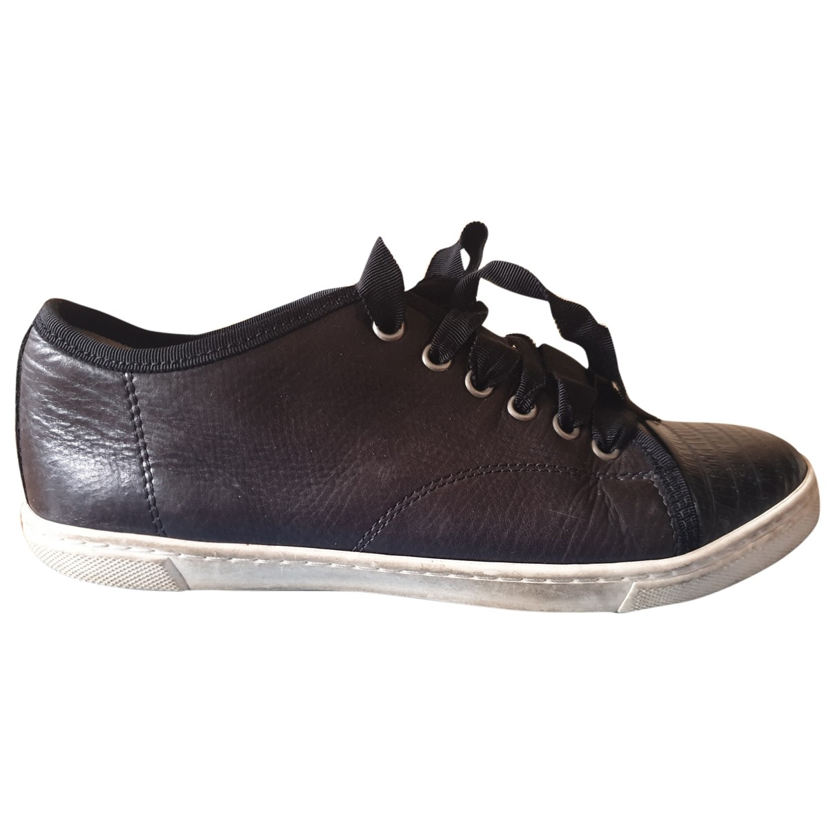Lanvin \N Black Leather Trainers for Women 37 EU