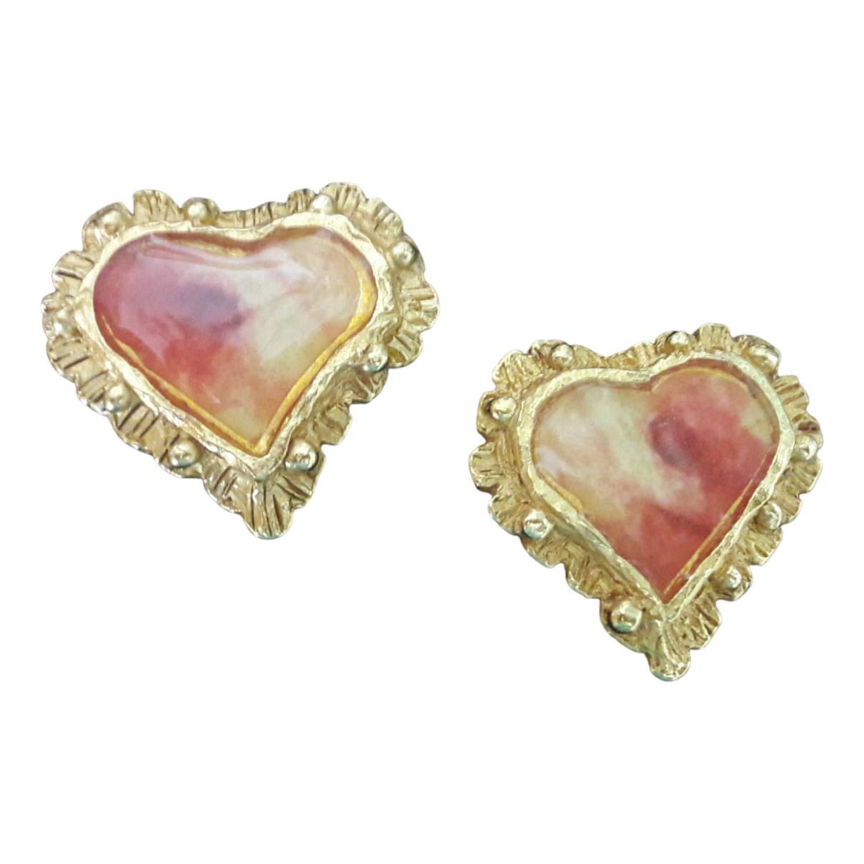 Christian Lacroix \N Gold Metal Earrings for Women \N