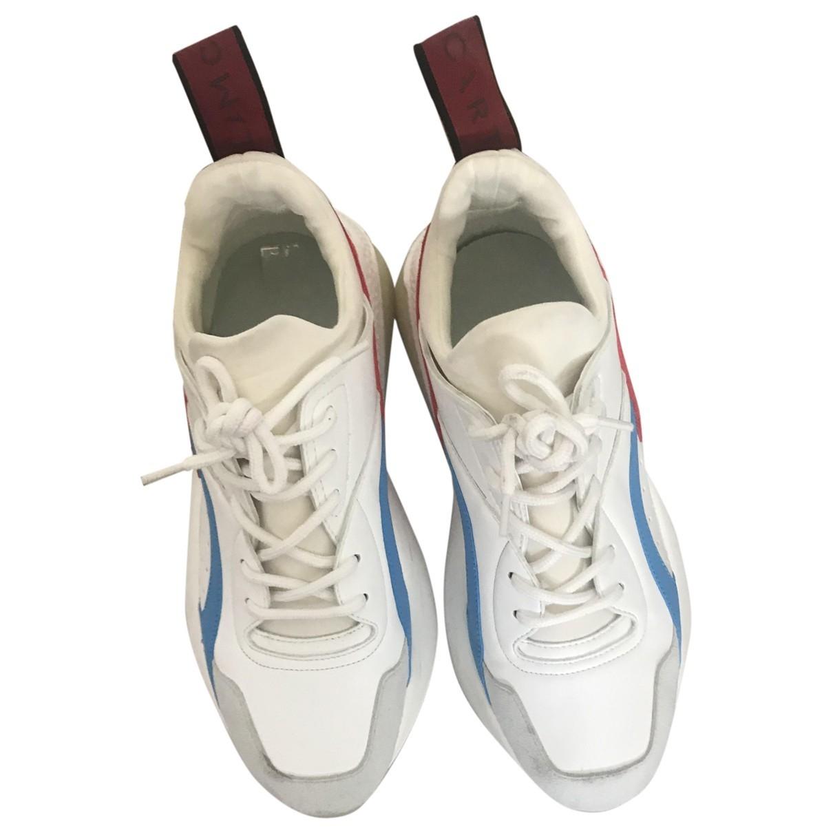 Stella Mccartney Eclypse White Cloth Trainers for Women 37 EU