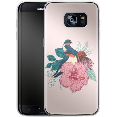 Samsung Galaxy S7 Edge Silikon Handyhuelle - Barn Swallows von Mat Miller