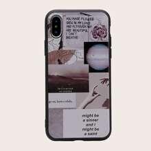 1 pieza funda de iphone con patron mixto