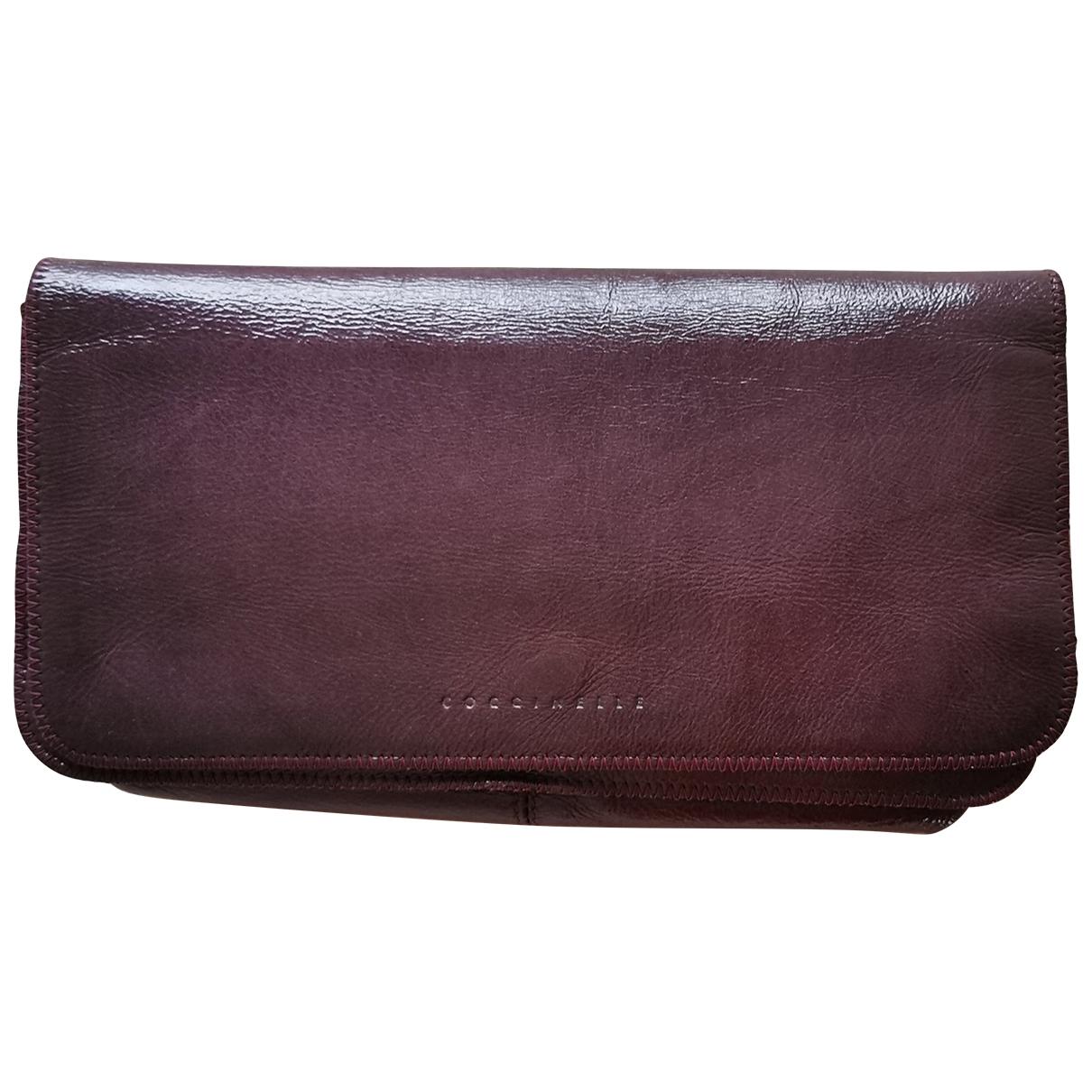 Coccinelle - Pochette   pour femme en cuir - violet