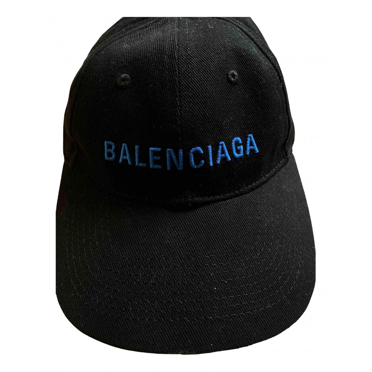 Balenciaga \N Hut, Muetzen in  Schwarz Baumwolle