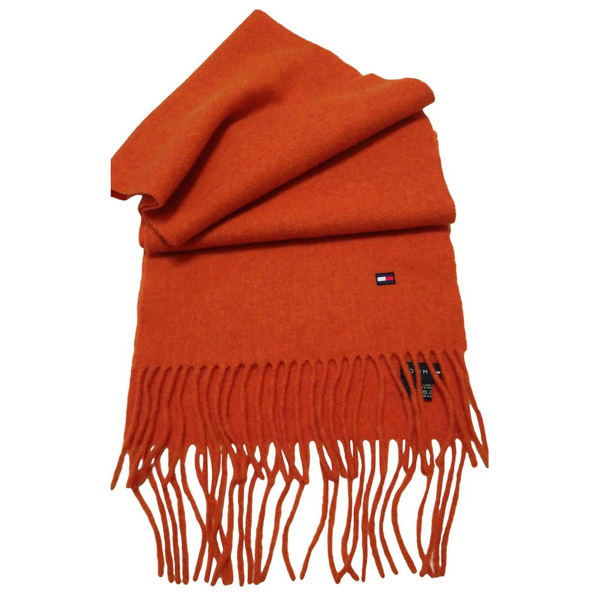 Tommy Hilfiger - Cheches.Echarpes   pour homme en laine - orange