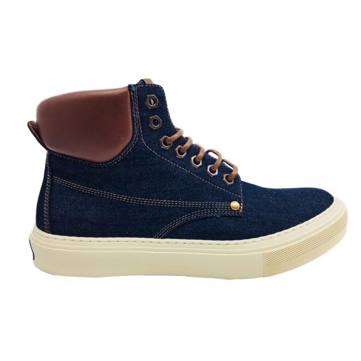 Louis Vuitton \N Stiefel in  Blau Leinen