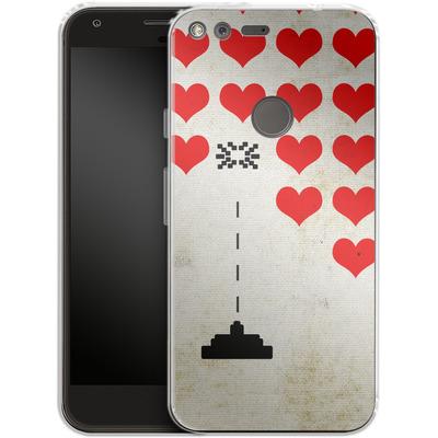 Google Pixel XL Silikon Handyhuelle - Heart Attack von Claus-Peter Schops