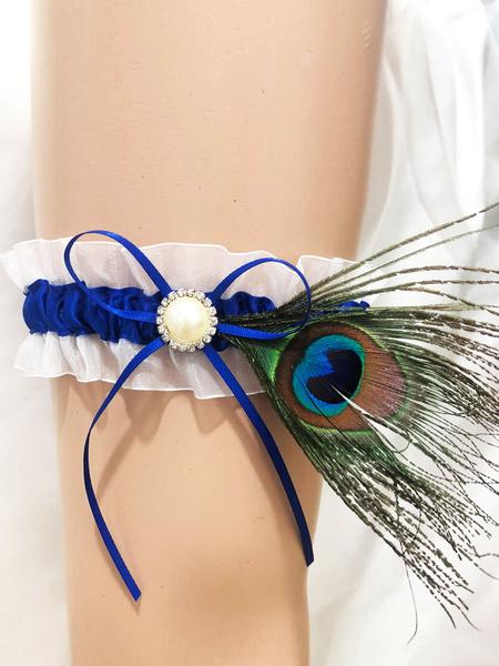 Milanoo Bridal Wedding Garter Sexy Pearls