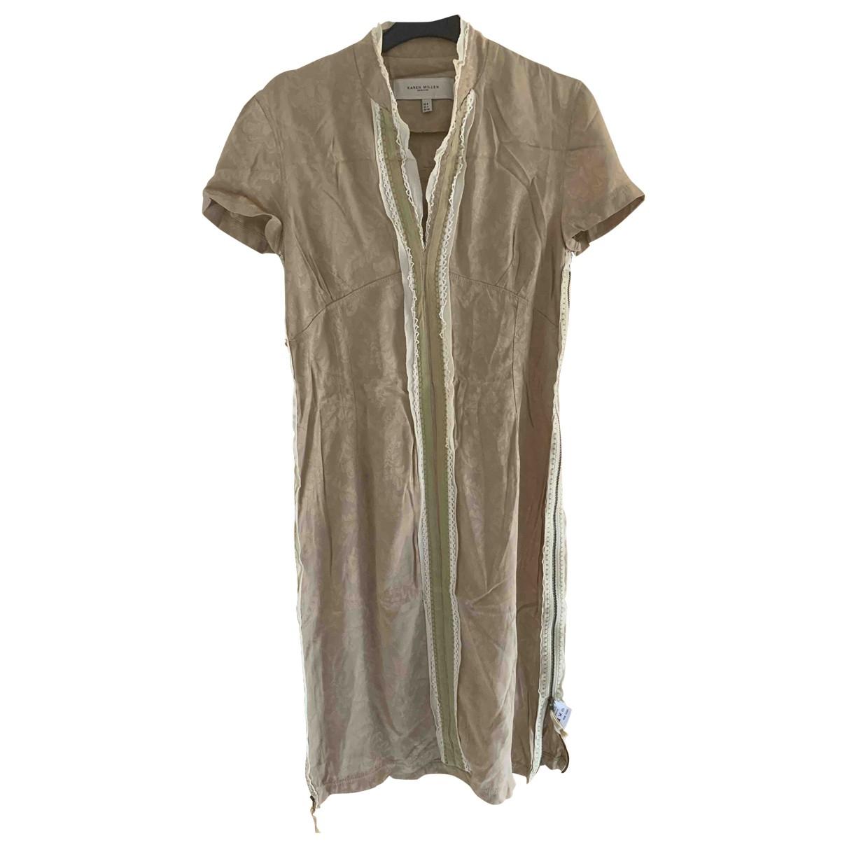 Karen Millen \N Kleid in  Kamel Viskose