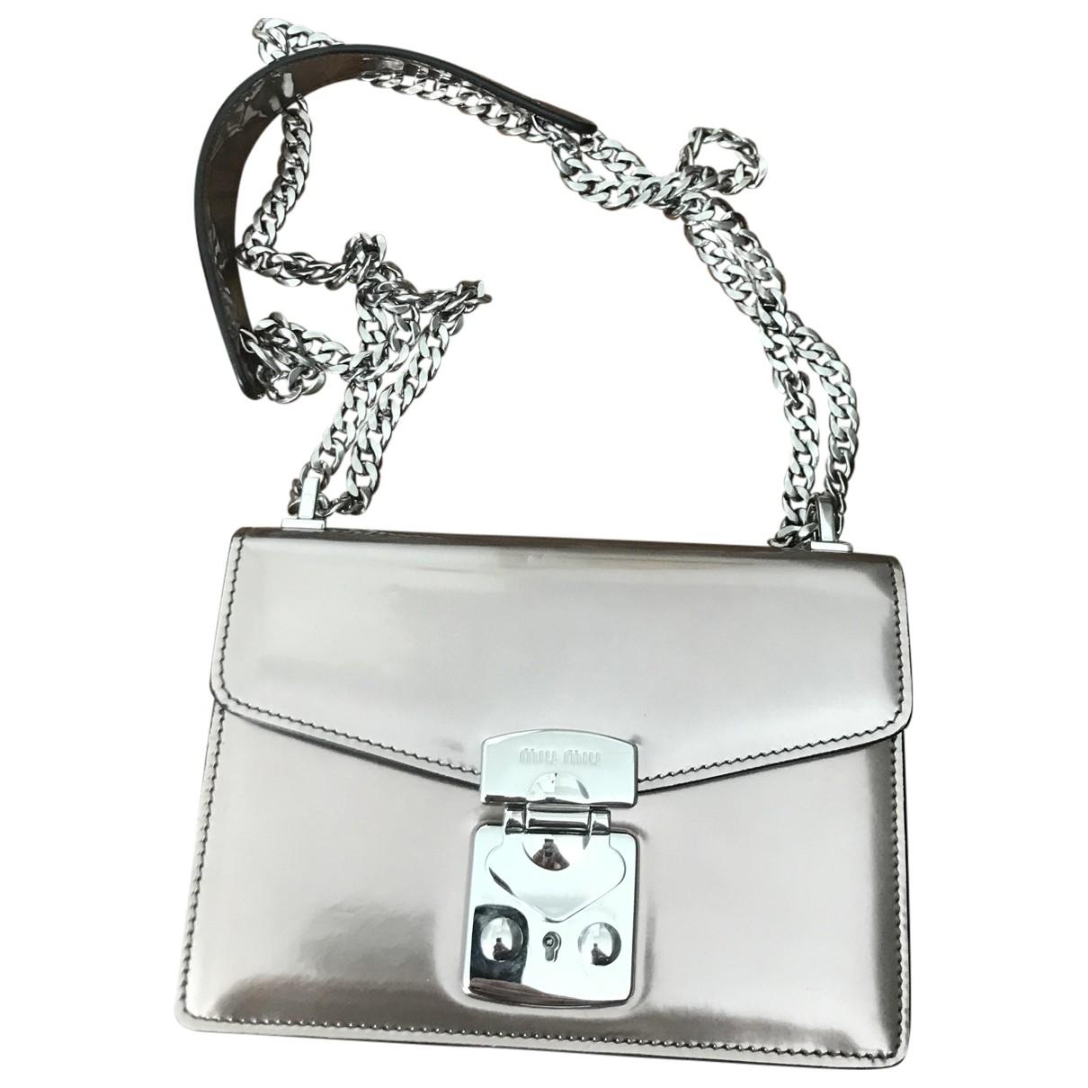 Miu Miu \N Metallic Patent leather handbag for Women \N