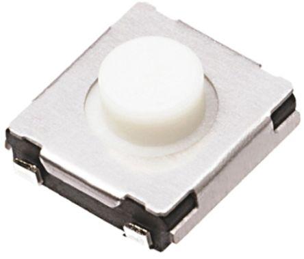 Panasonic White Push Plate Tactile Switch, Single Pole Single Throw (SPST) 20 mA 3.1mm (20)