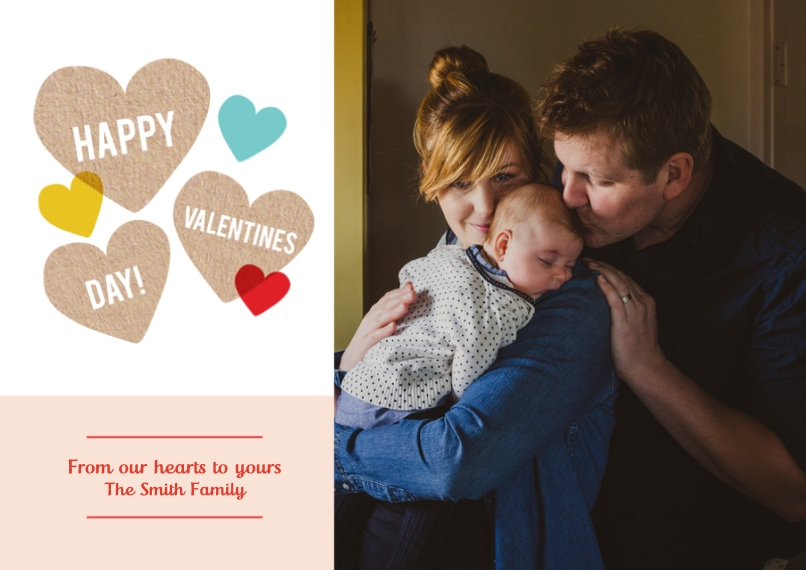 Valentine's Cards Mail-for-Me Premium 5x7 Flat Card, Card & Stationery -Hearts Valentine's Day