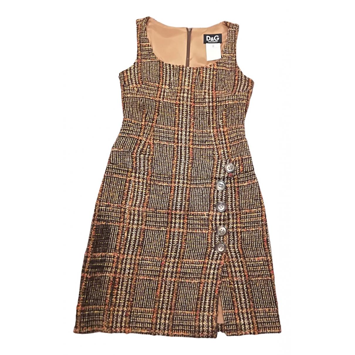 D&g N Multicolour Wool dress for Women 40 IT