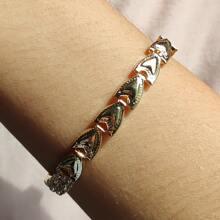 Armband mit Metall Herzen Dekor