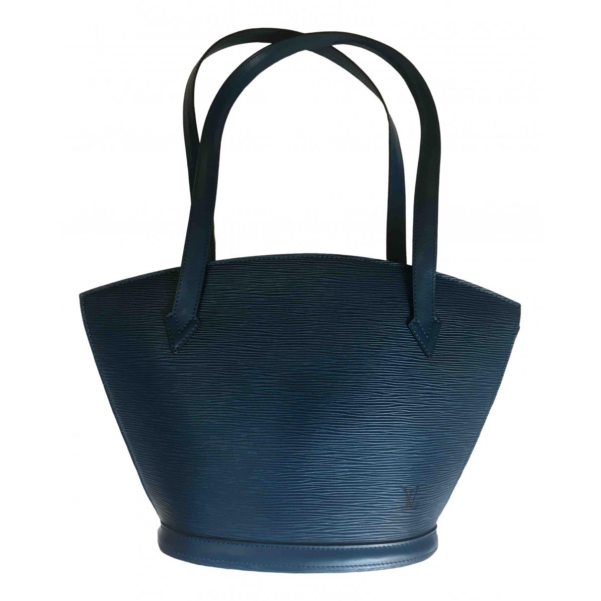 Louis Vuitton - Sac a main Vaneau pour femme en cuir - bleu