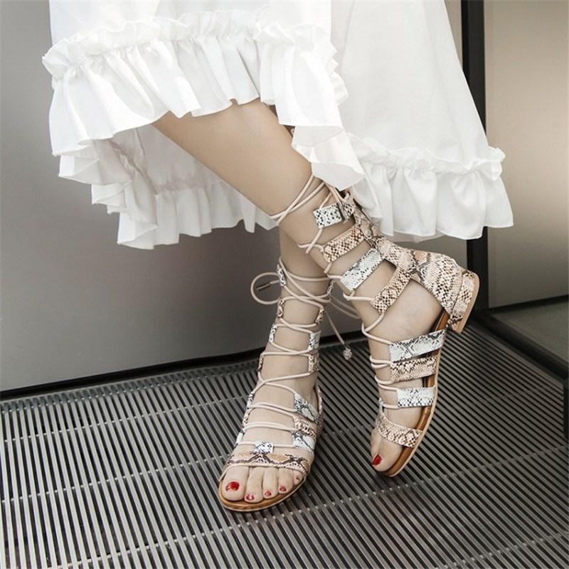 Ericdress Zipper Open Toe Serpentine Sandals