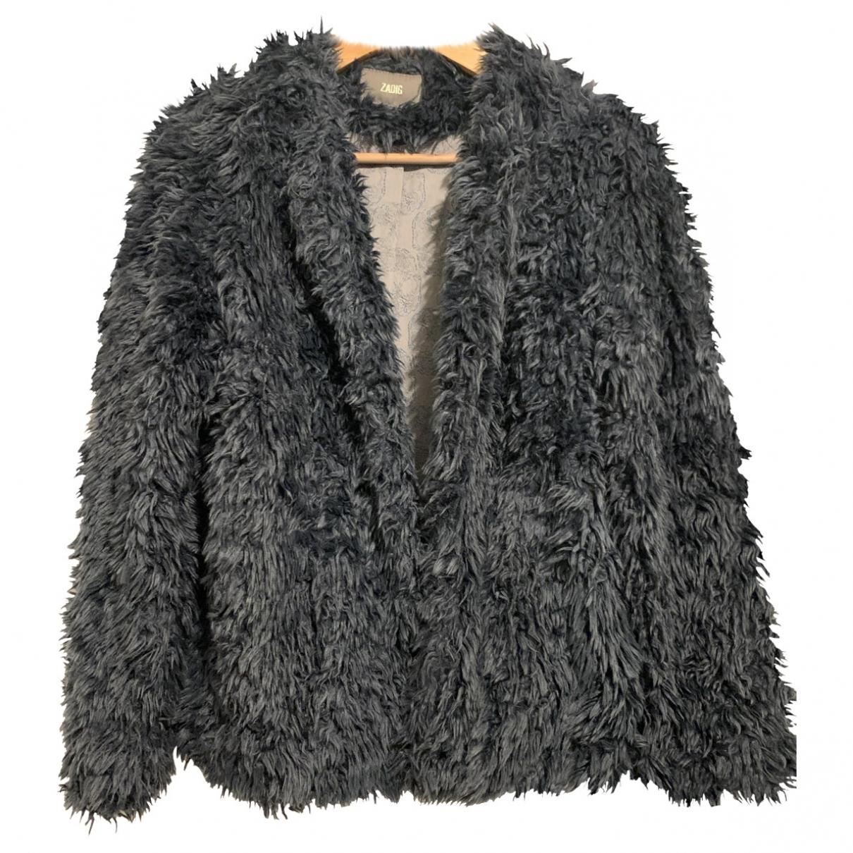 Zadig & Voltaire \N Blue Faux fur jacket for Women M International