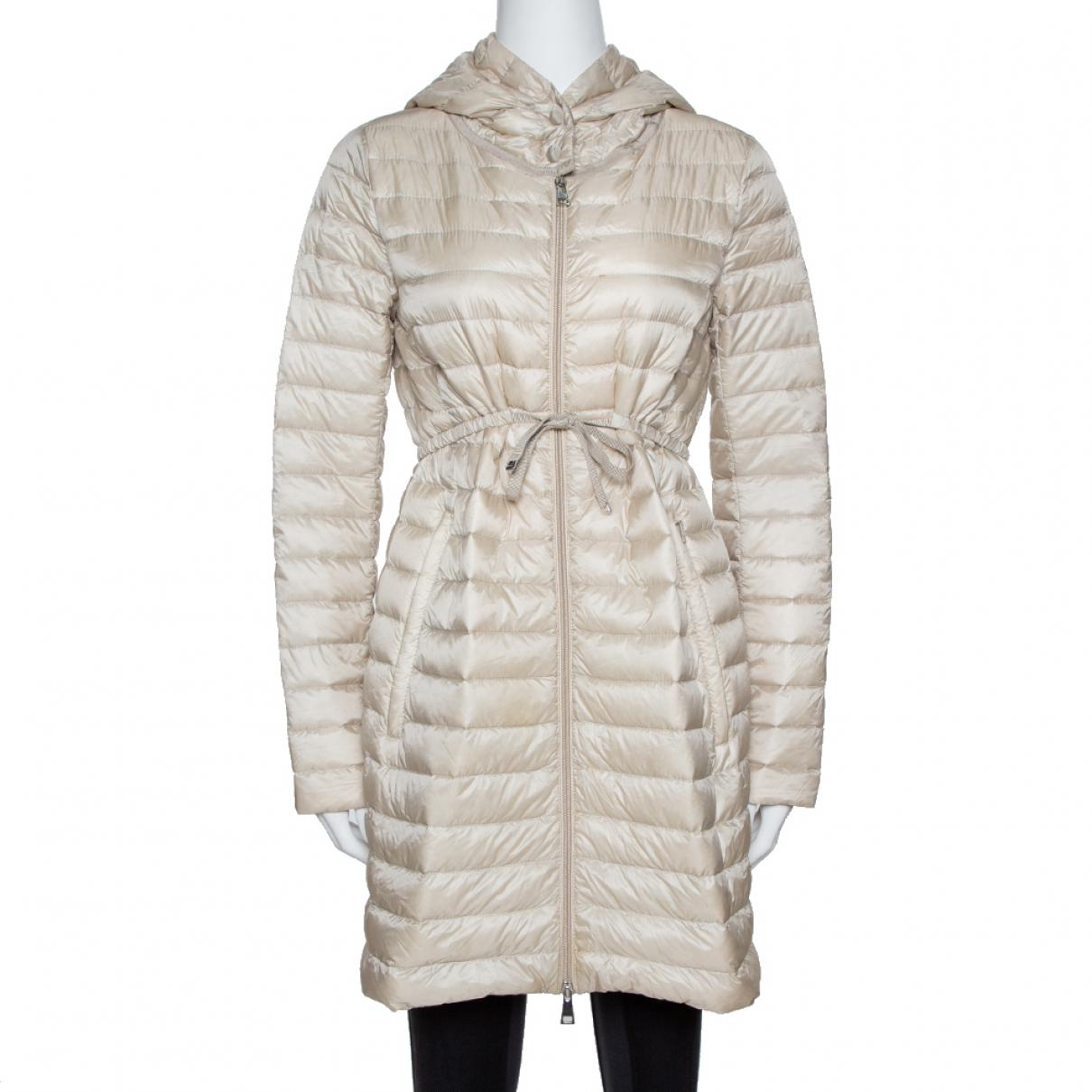Moncler N Beige Silk coat for Women 2 US
