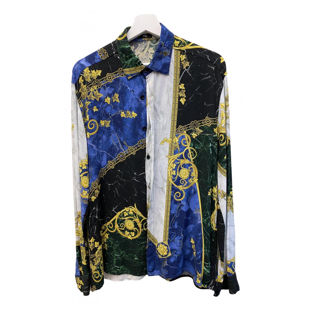 Versace N Multicolour Cotton Shirts for Men 40 EU (tour de cou / collar)