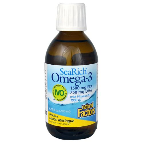 SeaRich Omega-3 Lemon Meringue 6.8 Oz by Natural Factors