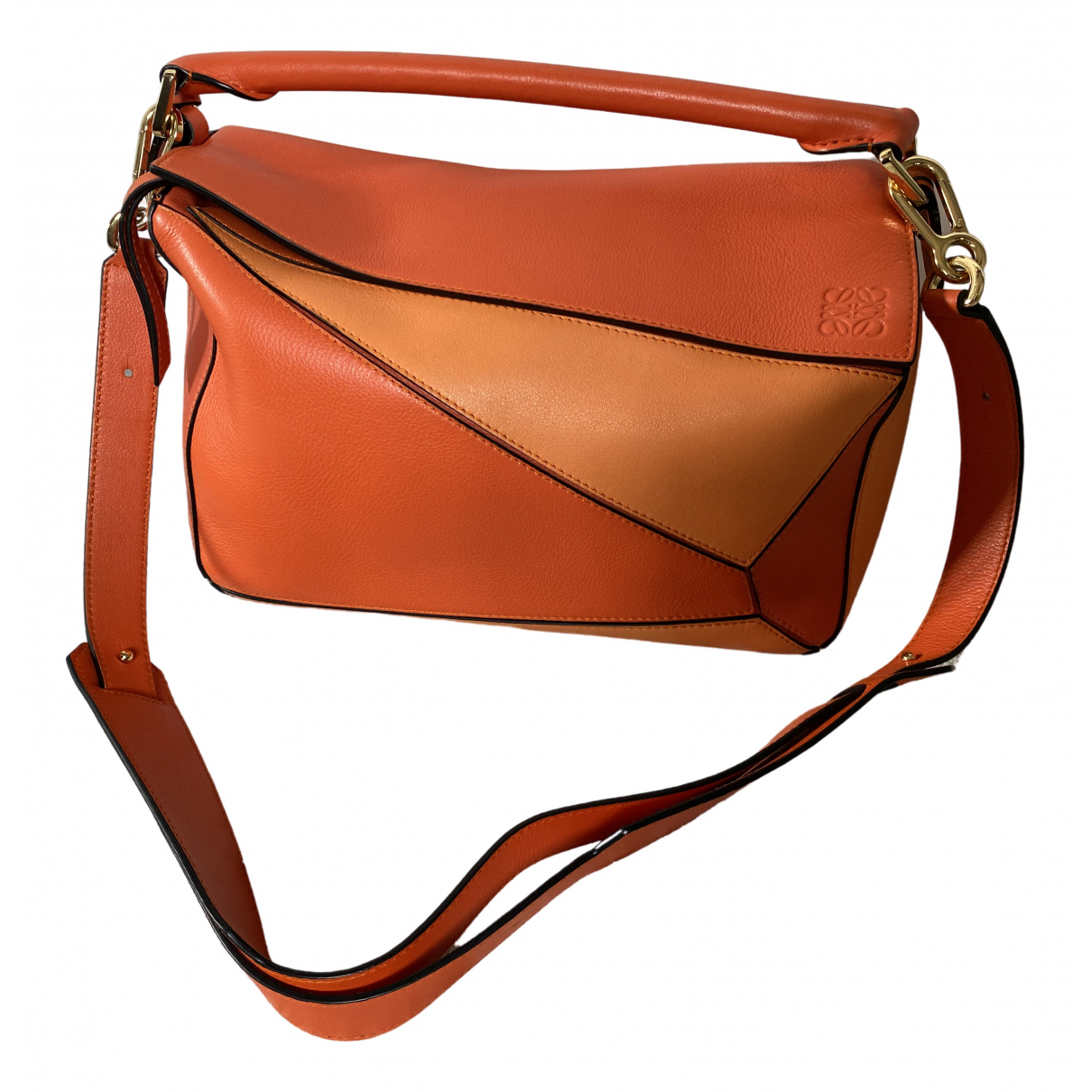 Loewe Puzzle  Orange Leather handbag for Women \N