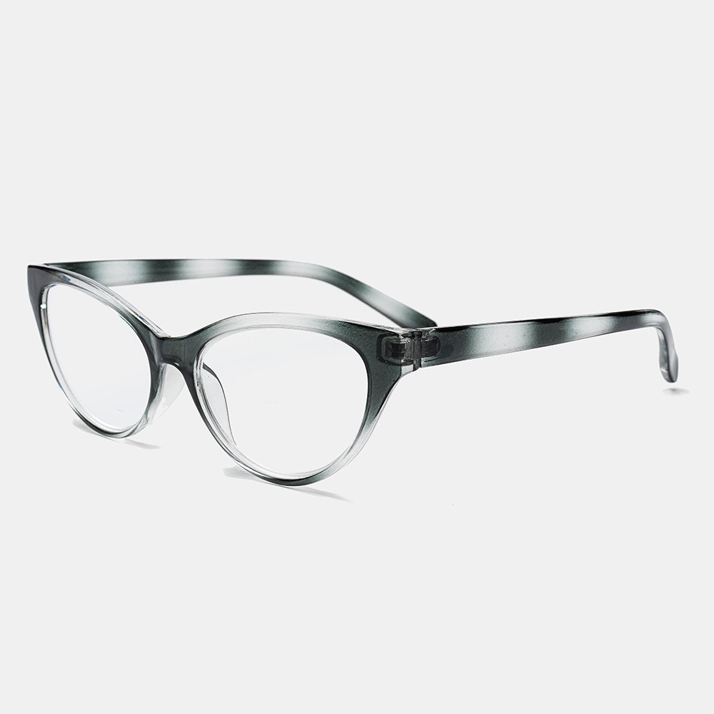 Women Men 4-Color Cats Eye Gradient Reading Glasses TR90 Portable Durable Light Weight