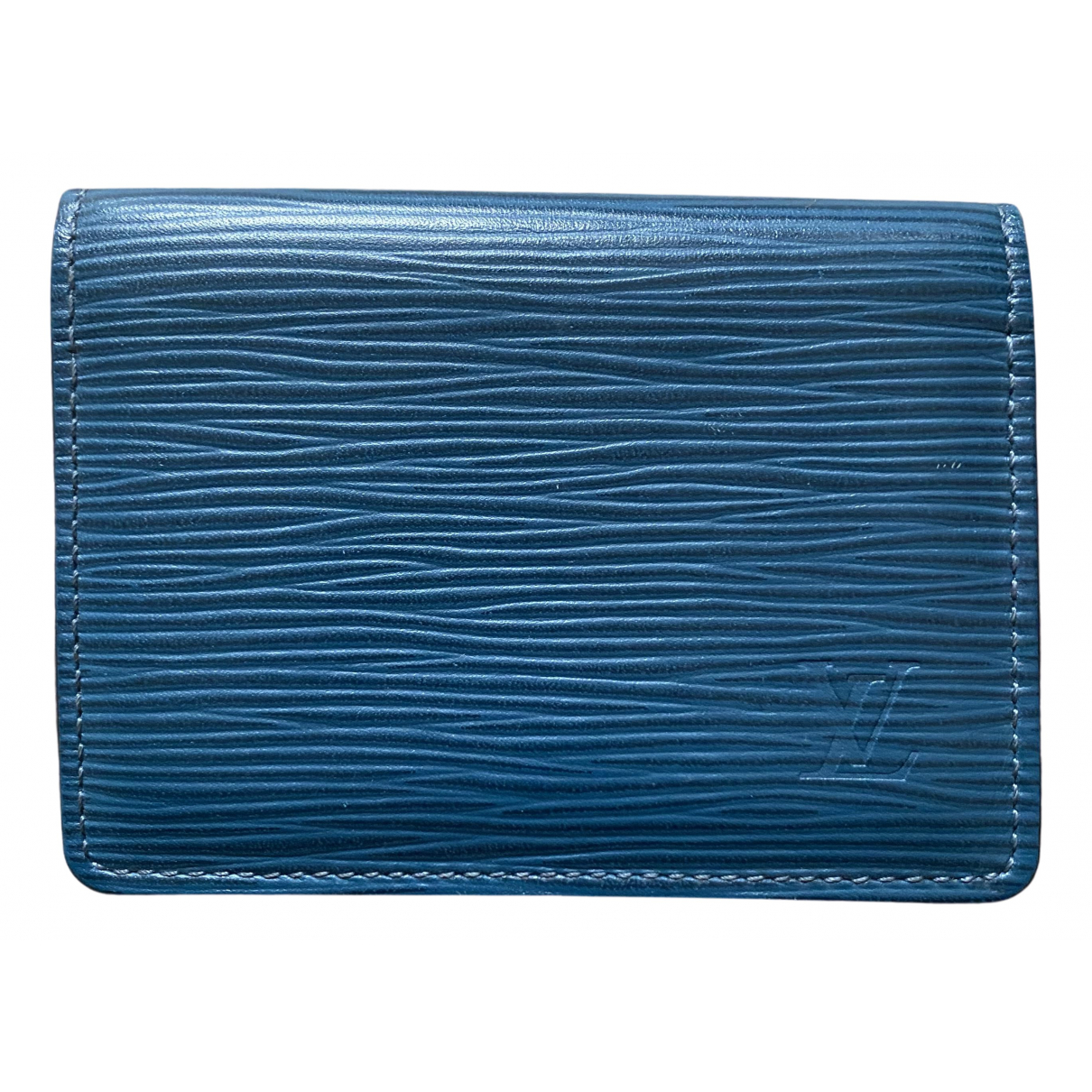 Louis Vuitton N Blue Leather Purses, wallet & cases for Women N