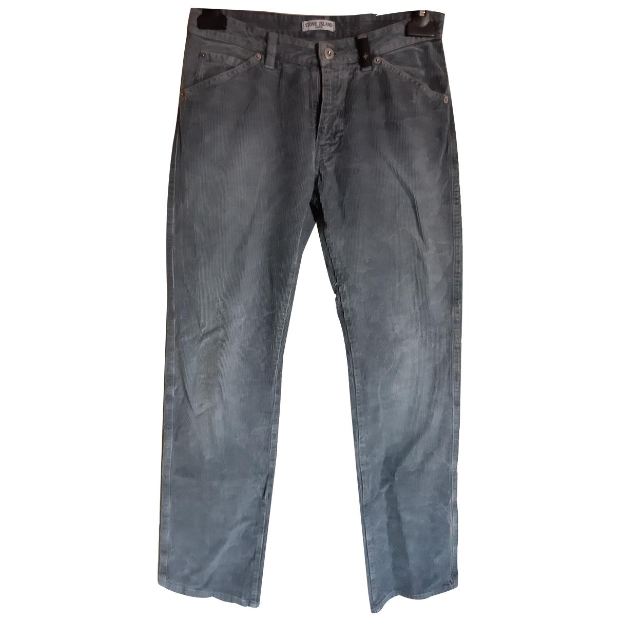 Stone Island \N Velvet Trousers for Men 44 IT