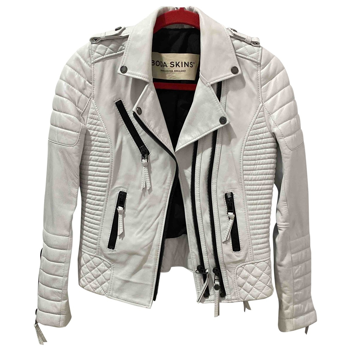 Bodaskins \N White Leather jacket for Women 6 UK