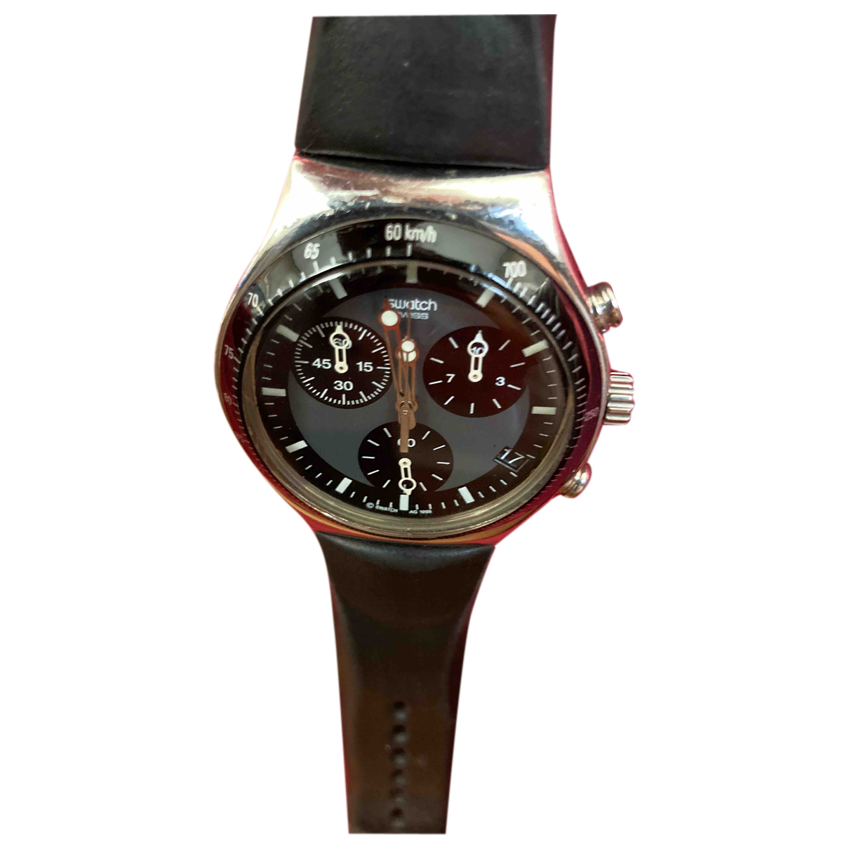 Swatch \N Uhr in  Schwarz Stahl