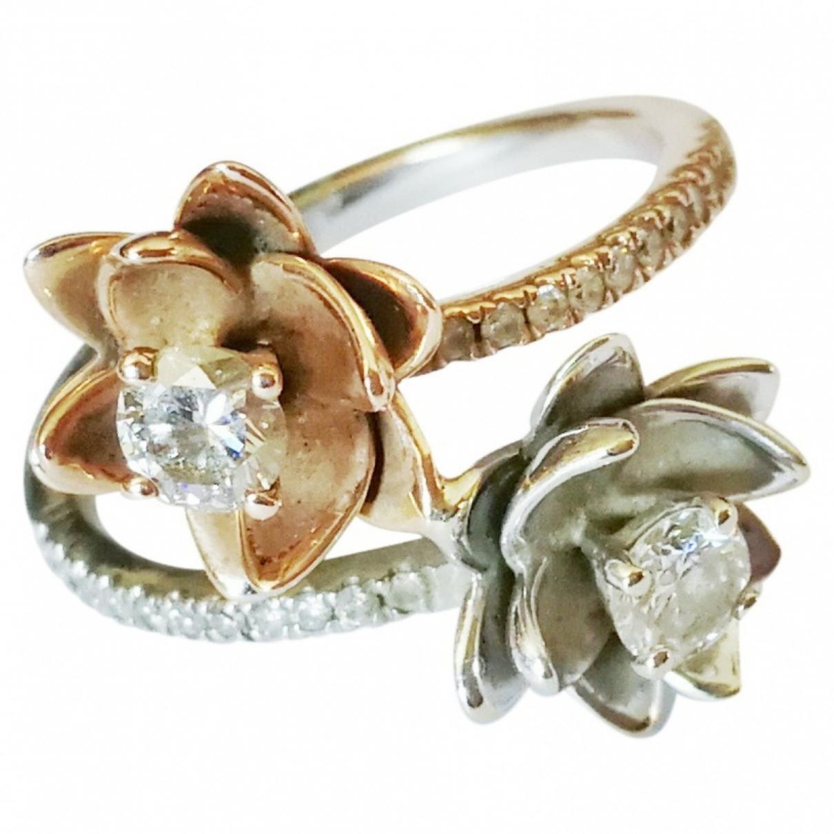 - Bague Motifs Floraux pour femme en or blanc - blanc