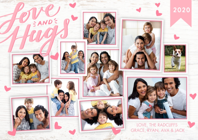Valentine's Day Cards Flat Glossy Photo Paper Cards with Envelopes, 5x7, Card & Stationery -Valentine 2020 Love Hugs by Tumbalina