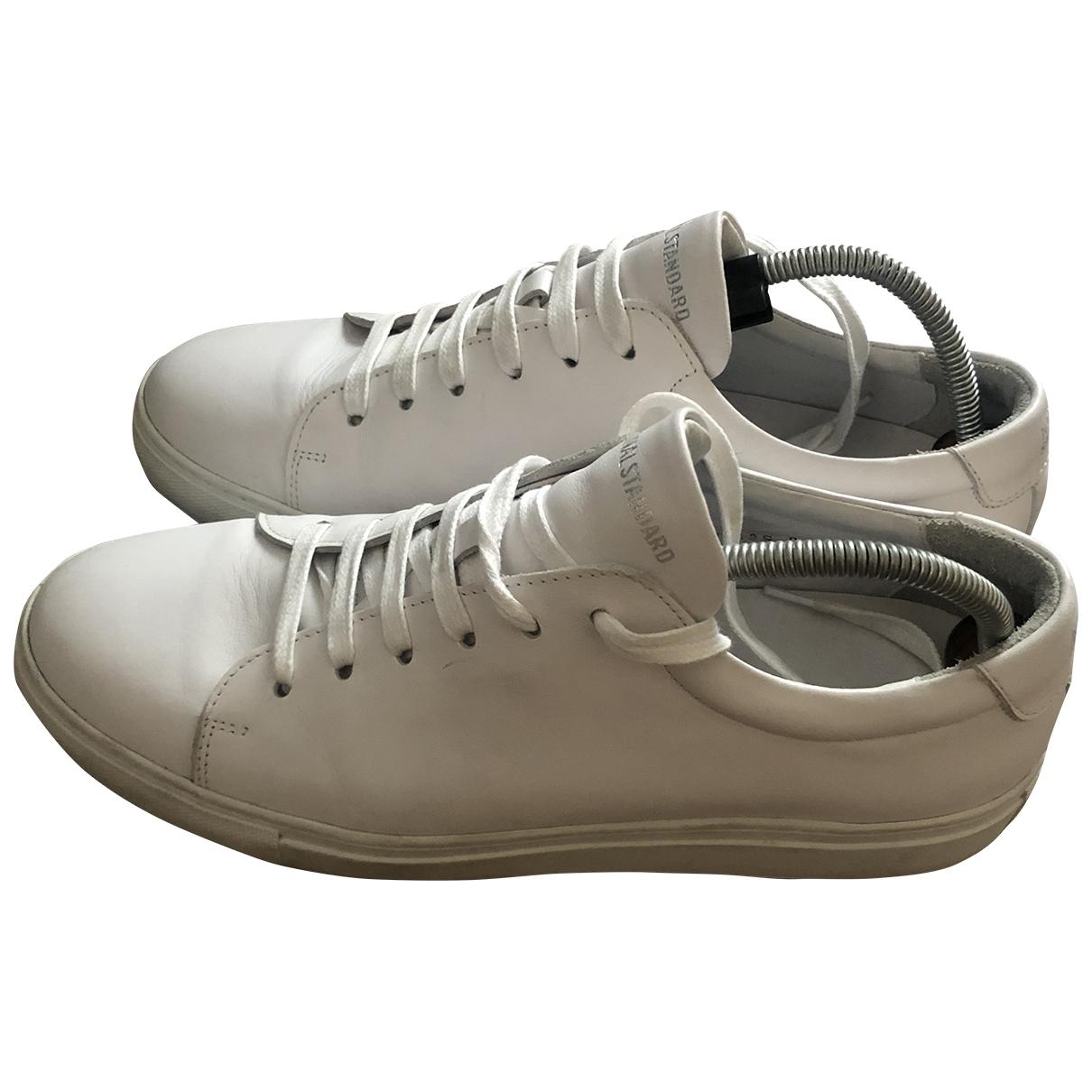 National Standard - Baskets   pour homme en cuir - blanc
