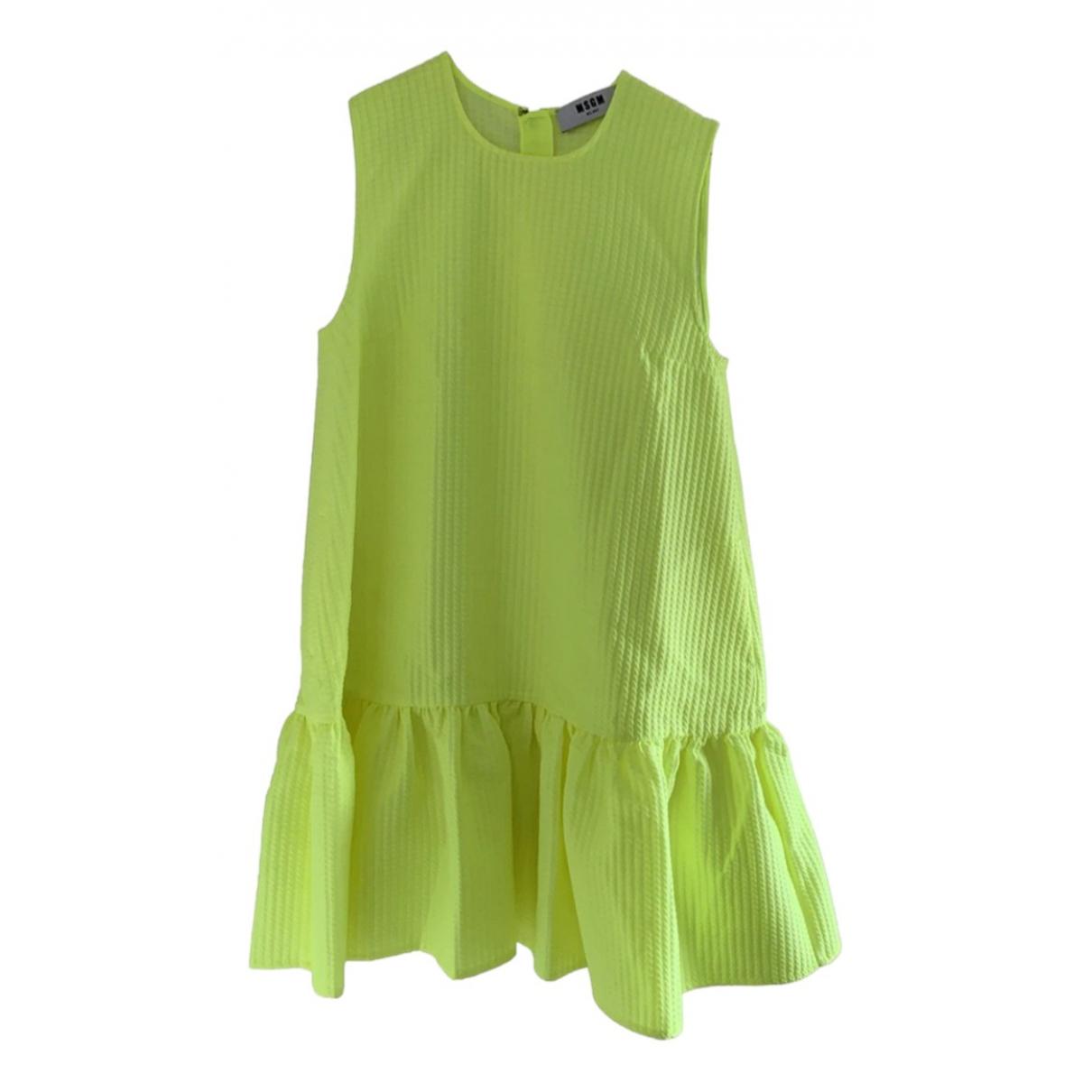 Msgm \N Kleid in  Gruen Polyester