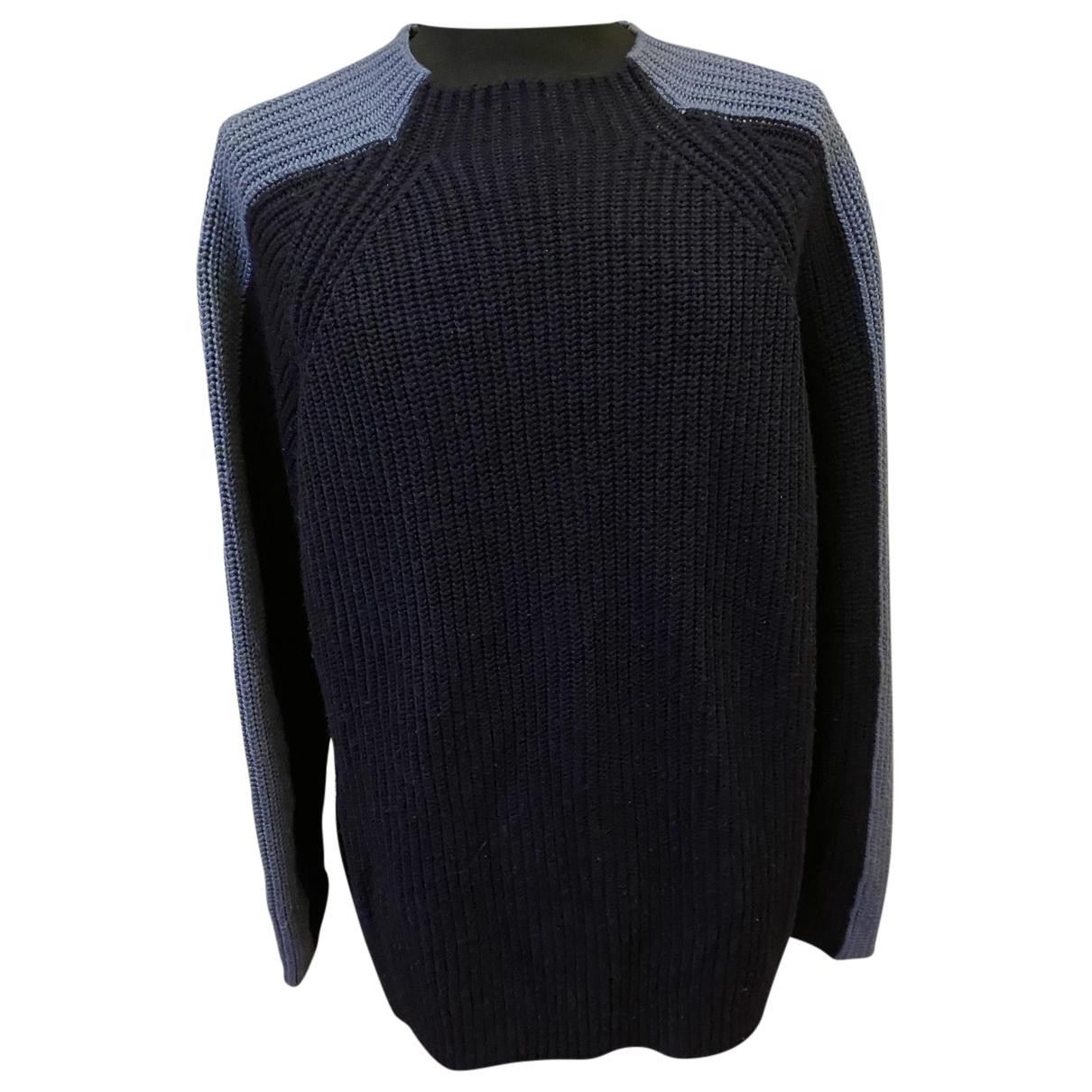 Hugo Boss \N Pullover.Westen.Sweatshirts  in  Blau Wolle