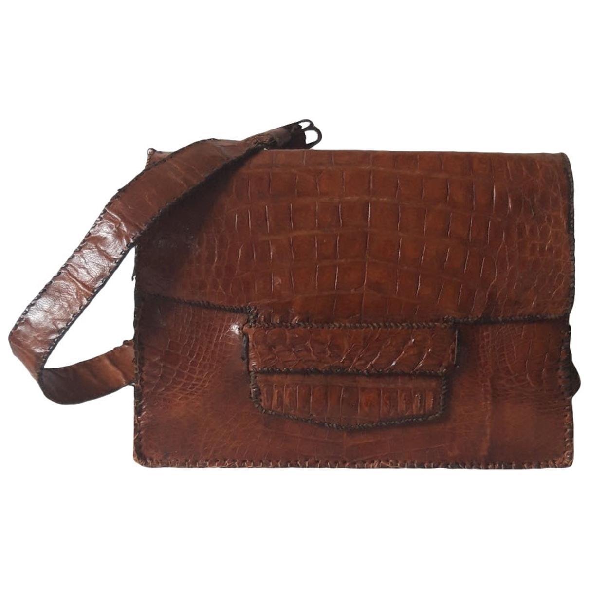 Non Signe / Unsigned \N Handtasche in  Braun Aligator