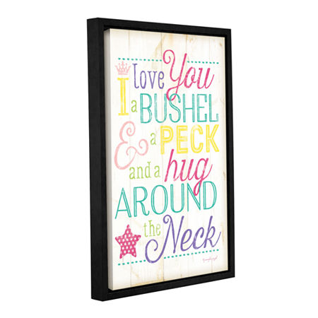 Brushstone I Love You A Bushel And A Peck Girl Gallery Wrapped Floater-Framed Canvas Wall Art, One Size , Multiple Colors