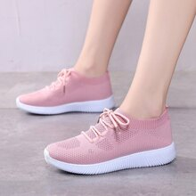 Pink bequem Sneakers