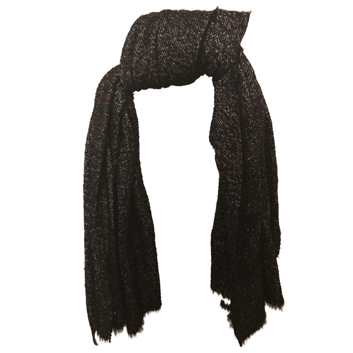 Zara \N Black Cotton scarf for Women \N