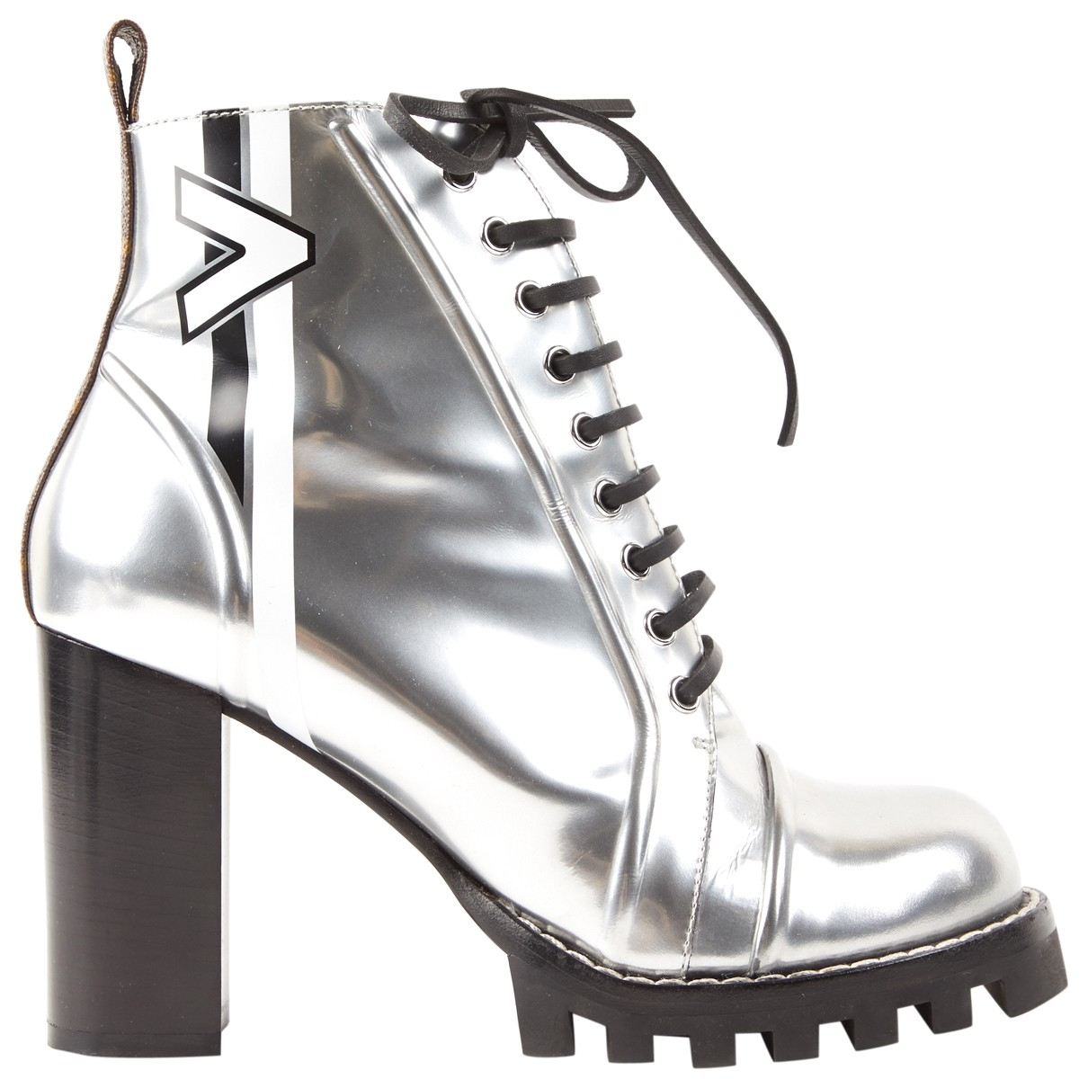 Louis Vuitton Star Trail Stiefeletten in  Silber Leder