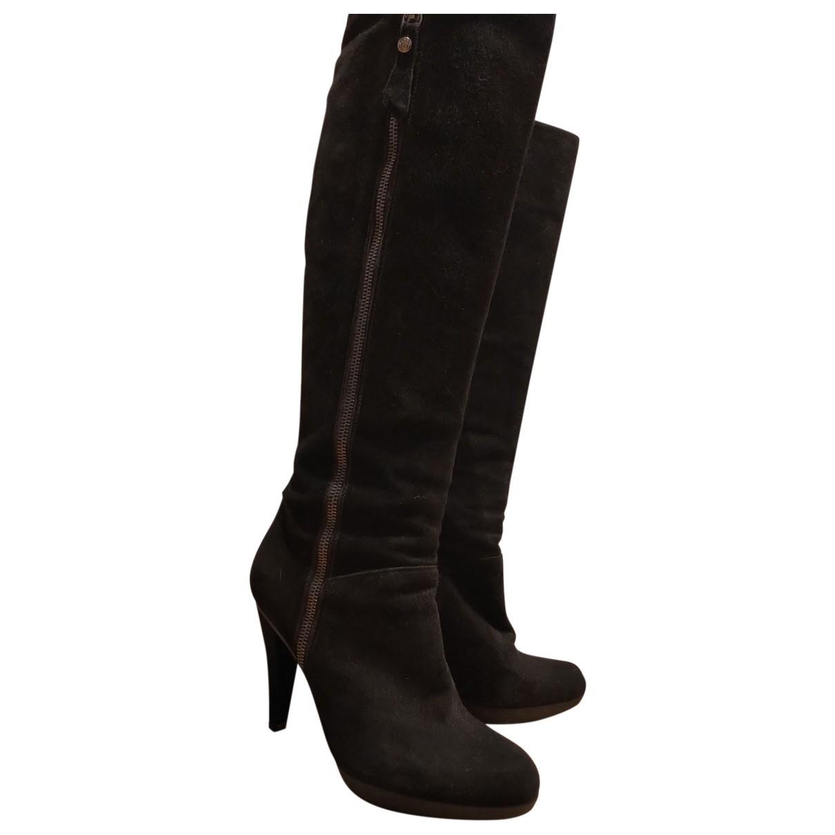 Stuart Weitzman \N Black Suede Boots for Women 37 EU
